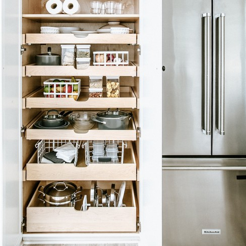 Kitchen Cabinet Organizer Basket White Made By Design