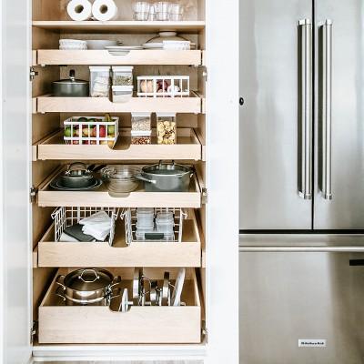 Beau Kitchen Cabinet Organizer Basket Large White   Made By Design™