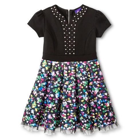7408ad3390f Girls  Jem   The Holograms A-Line Dress - Heart Print XL   Target