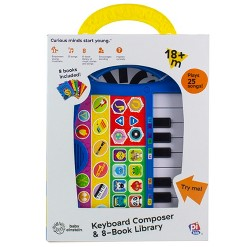 Baby Einstein Electronic My First Music Fun Portable Keyboard and 8-book Boxed Set