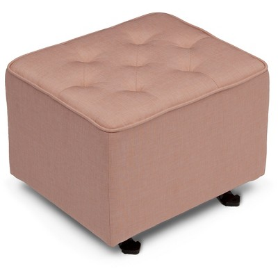 Delta Children Emma Diamond Tufted Gliding Ottoman - Blush