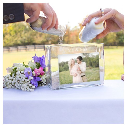 3ct Mr Mrs Wedding Sand Ceremony Photo Vase Unity Set Target
