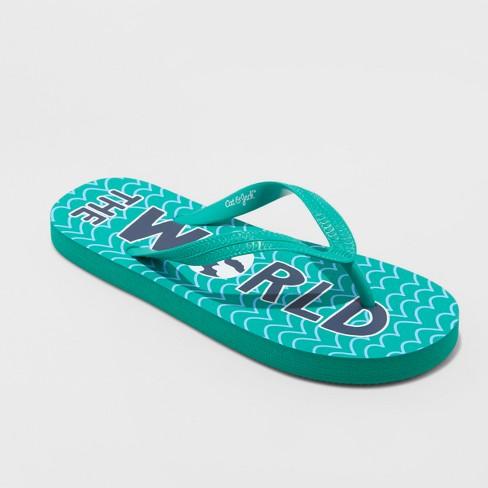 9e5040ebf948c Boys  Wade Flip Flop Sandals - Cat   Jack™ Green XL   Target