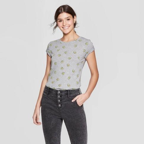 1c358f469e8 Women s Short Sleeve Avocado T-Shirt - Zoe+Liv (Juniors ) - Gray ...