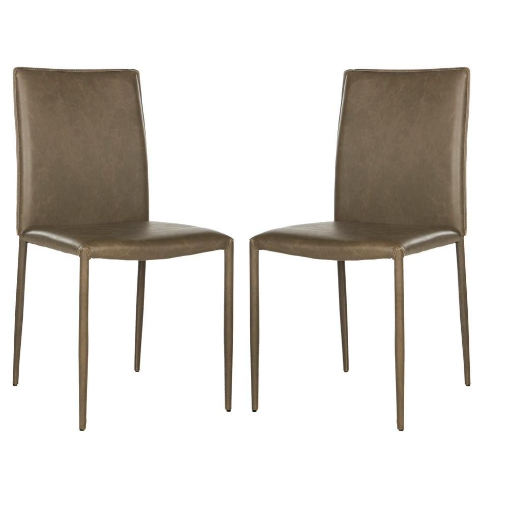 Karna Dining Chair - Antique Brown (Set of 2) - Safavieh
