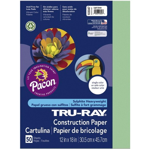 Tru-Ray Sulphite Construction Paper, 18 x 24 Inches, Light Green, 50 Sheets - image 1 of 1