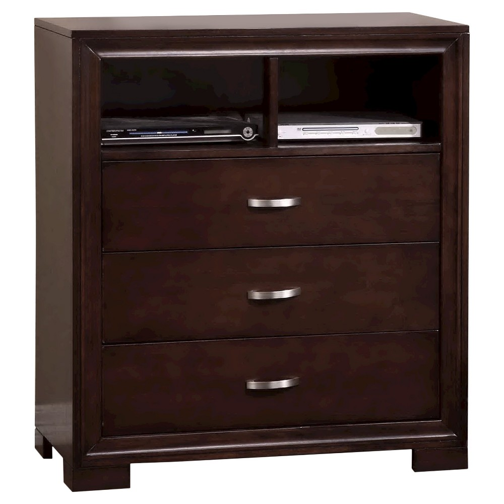 Landon 3-Drawer Media Chest Rich Espresso - Picket House Furnishings