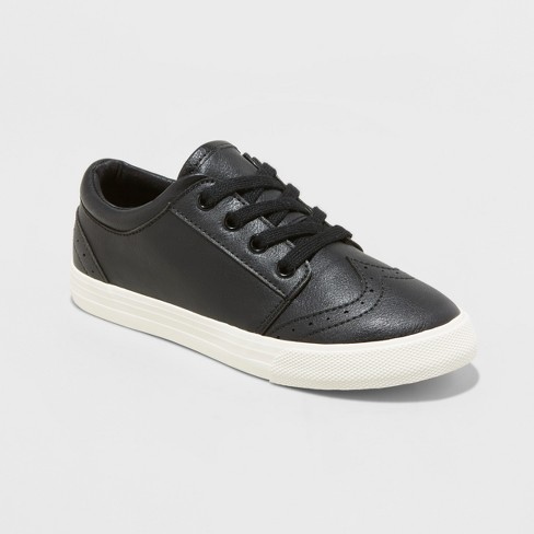 Boys' Warren Dress Sneakers - Cat & Jack™ Black - image 1 of 3