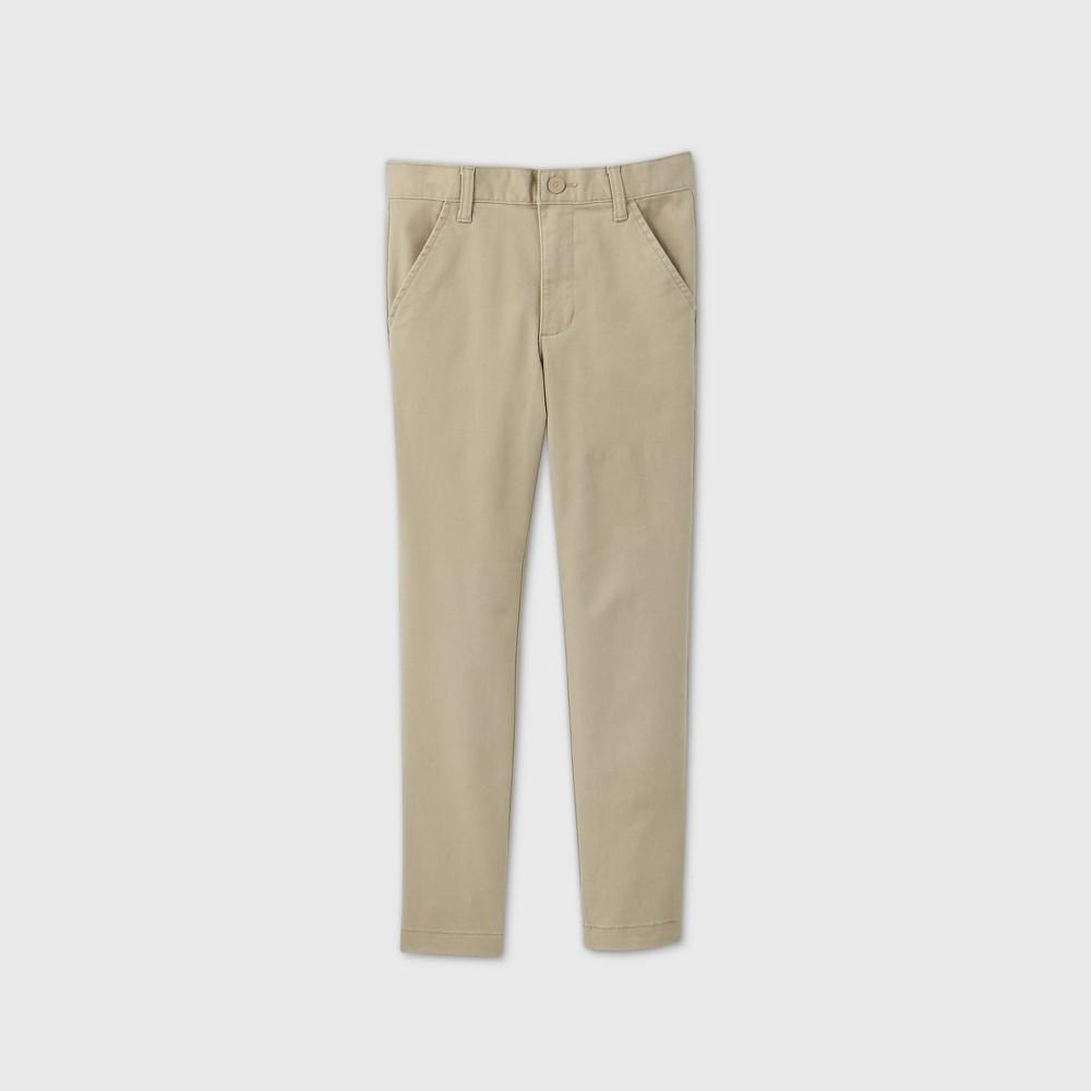 Boys 39 Flat Front Stretch Uniform Skinny Fit Pants Cat 38 Jack 8482 Khaki 12