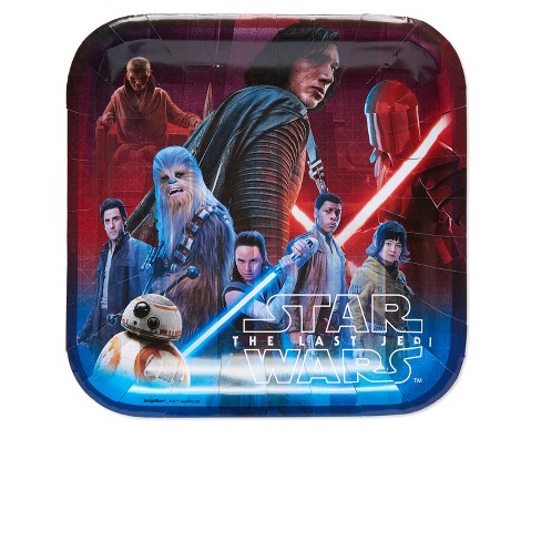 Star Wars Ep VIII 8ct Paper Plates - image 1 of 2