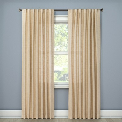 Textured Weave Back Tab Window Curtain Panel - Threshold™