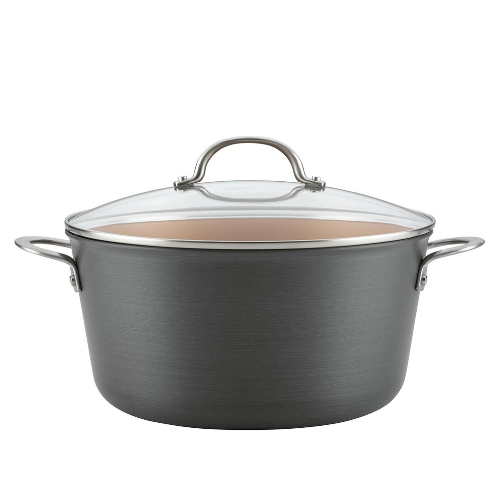 Image of Ayesha Curry 10qt Home Collection Hard Anodized Aluminum Stockpot, Gray
