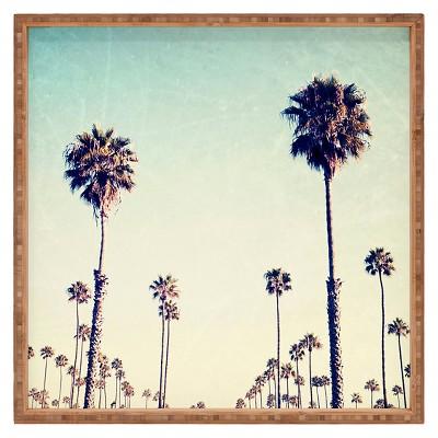 Bree Madden California Palm Trees Square Tray - Blue - Deny Designs