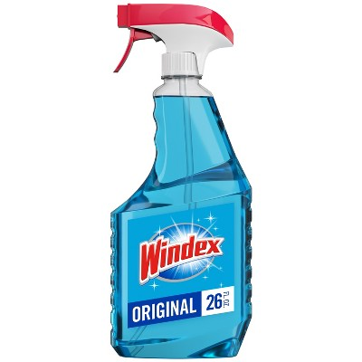 Windex Glass Cleaner Bonus Trigger Bottle Original Blue - 26 fl oz