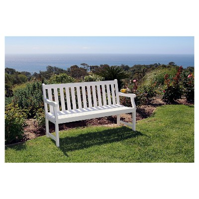 Delicieux Vifah Bradley Eco Friendly 5u0027 Outdoor White Wood Garden Bench : Target