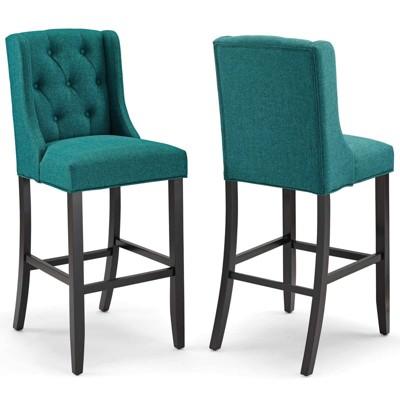 Set of 2 Baronet Barstool Upholstered Fabric - Modway