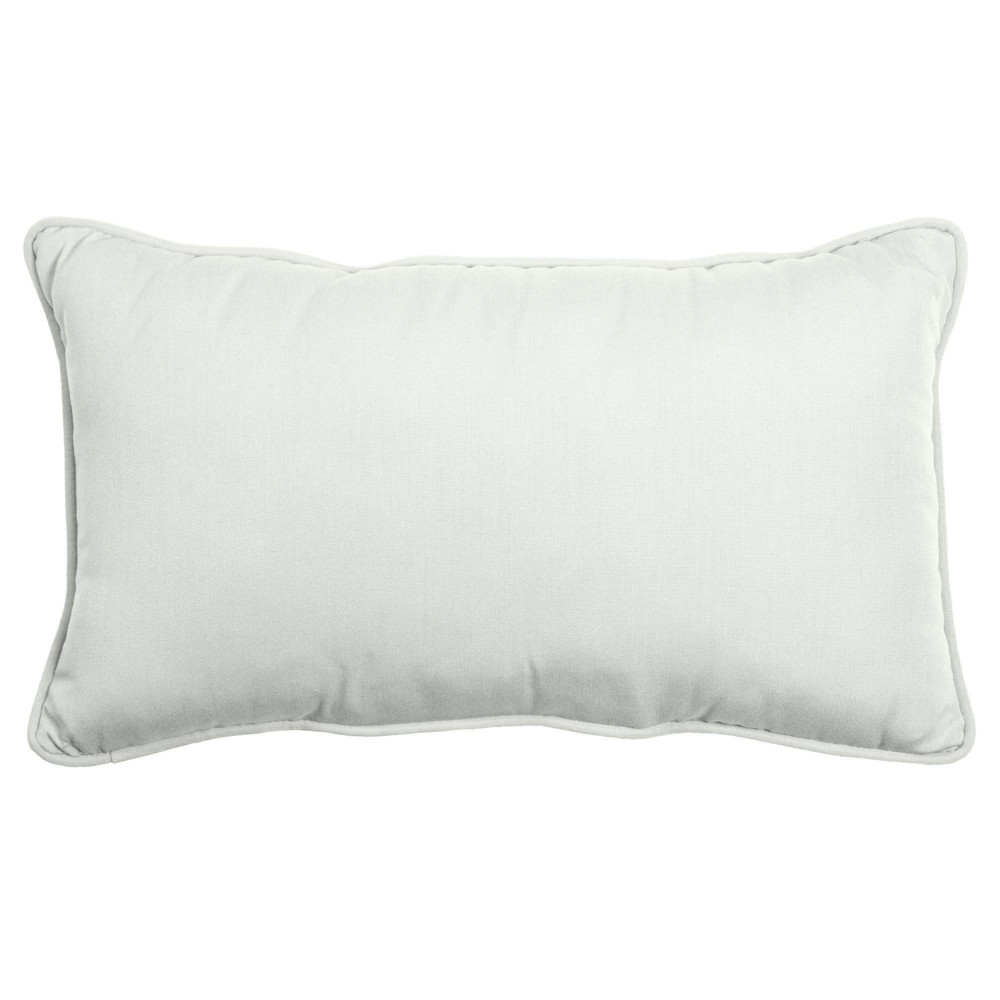14 34 X 24 34 Outdoor Indoor Lumbar Pillow Cloud White Arden Selections