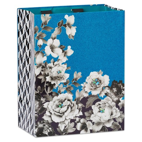 Papyrus Floral Noir Large Gift Bag - image 1 of 3