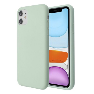 Insten Liquid Silicone Case Soft Touch with Microfiber Lining Cover Compatible with Apple iPhone