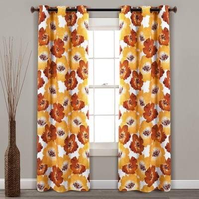 Julie Floral Insulated Grommet Blackout Window Curtain Panels - Lush Décor