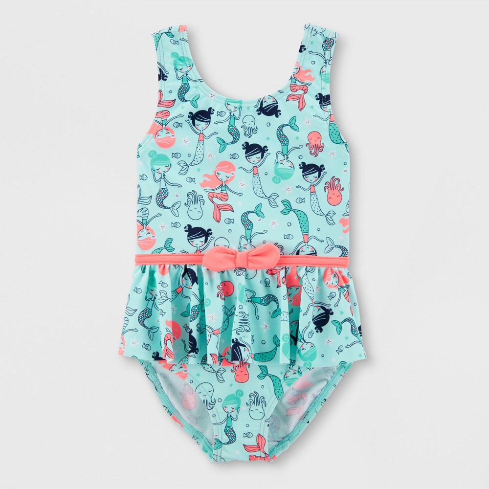 Toddler Girls' Mermaid One Piece Swimsuit - Just One You made by carter's Blue 4T