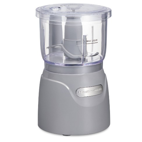 Hamilton Beach 3-Cup Stack and Press Food Chopper - Gray - image 1 of 4