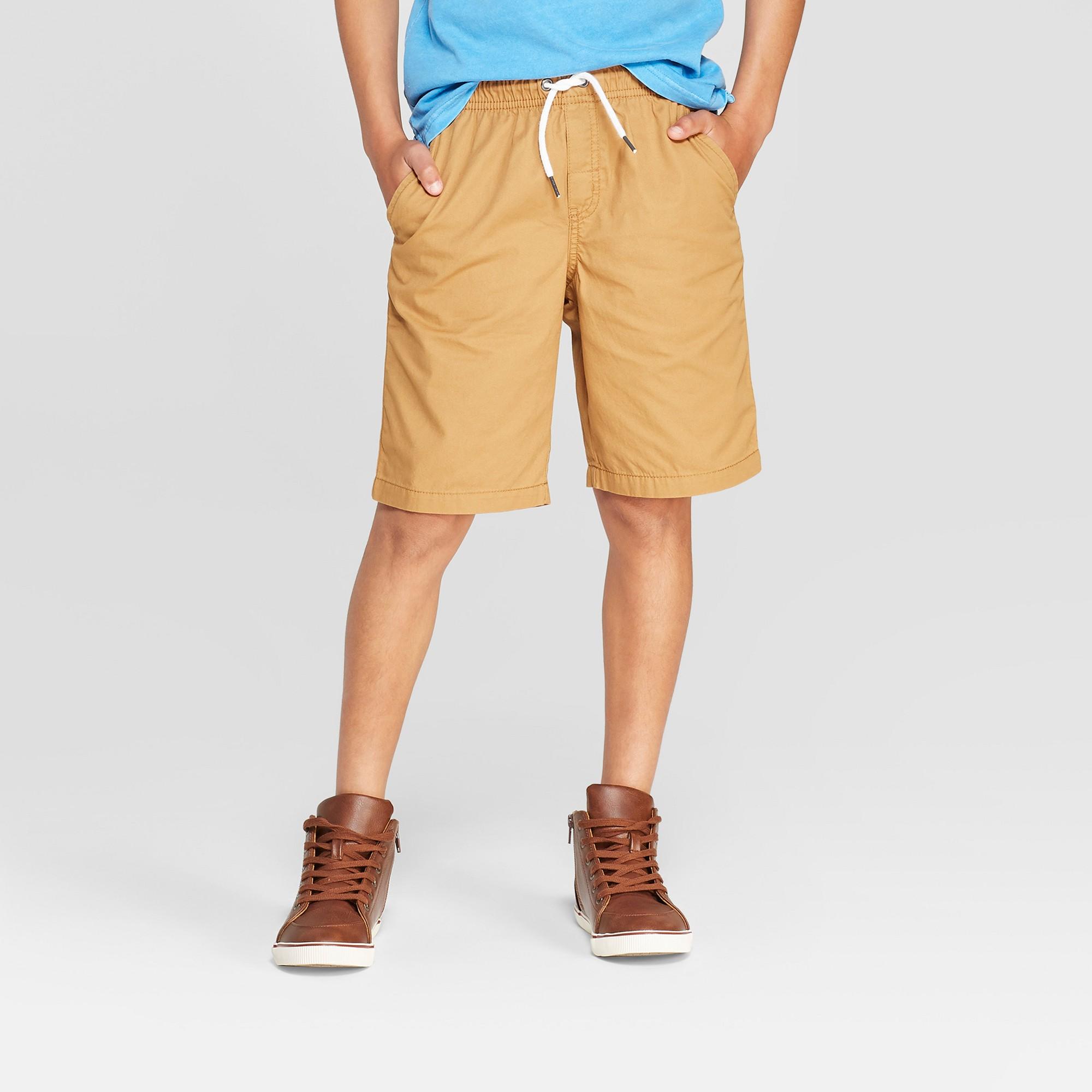 Boys' Pull-On Chino Shorts - Cat & Jack Brown XL, Boy's
