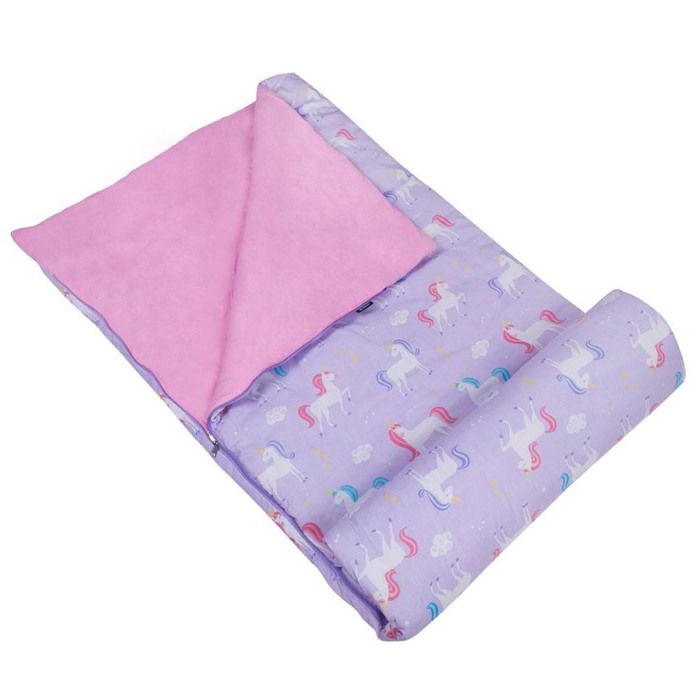 Wildkin Kids 39 Unicorn Original 60 Degrees Fahrenheit Sleeping Bag