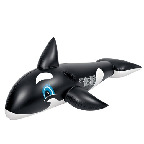 Pool Central 6.25' Inflatable Killer Whale Children's Pool Float Rider with Handles - image 1 of 2
