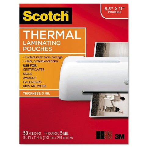 "Scotch® Thermal Laminating Pouches, 8.5"" x 11"" - 50ct - image 1 of 1"