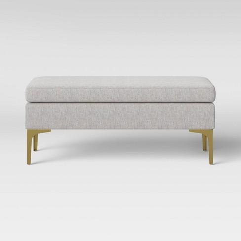 Joslyn Brass Leg Bench - Project 62™ - image 1 of 3