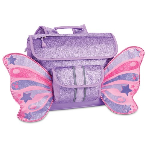 "Bixbee 10"" Kids' Sparkalicious Butterflyer Backpack - Purple - image 1 of 3"