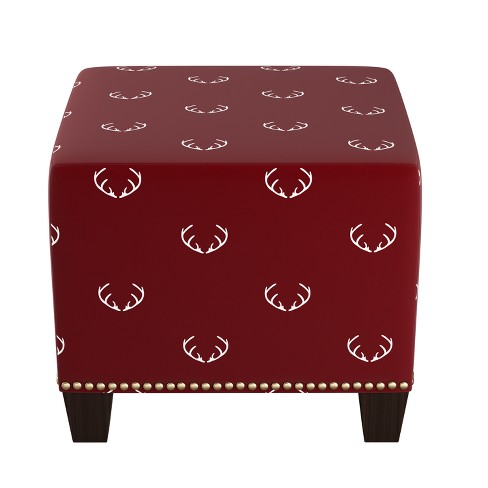 Square Nail Button Ottoman Patterned - Skyline Furniture - image 1 of 3