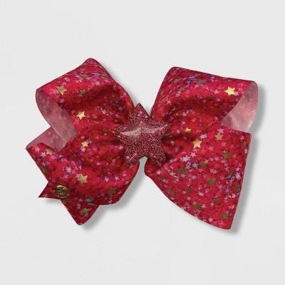 Girls' JoJo Siwa Fuchsia Stars Bow Hair Clip