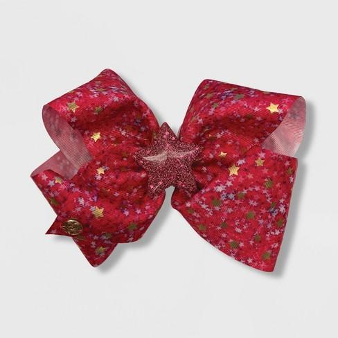 Girls' JoJo Siwa Fuchsia Stars Bow Hair Clip - image 1 of 1
