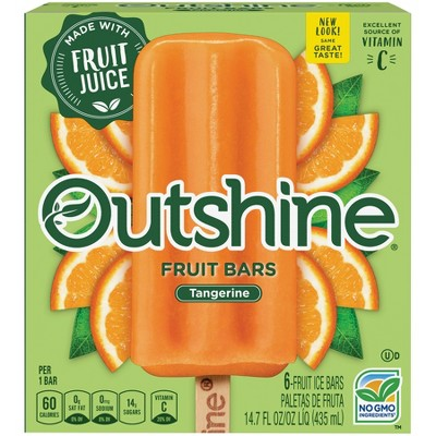 Outshine Tangerine Frozen Fruit Bar - 6ct