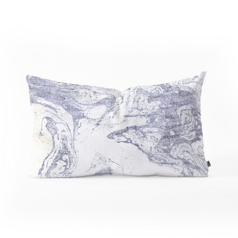 Holli Zollinger French Lumbar Throw Pillow White/Blue - Deny Designs - image 1 of 1
