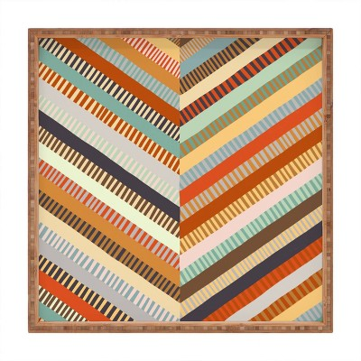 "13"" Wood Alisa Galitsyna Grandmother's Quilt Small Square Tray - society6"