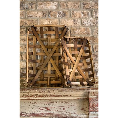Park Hill Collection Small Tobacco Baskets Set of 2