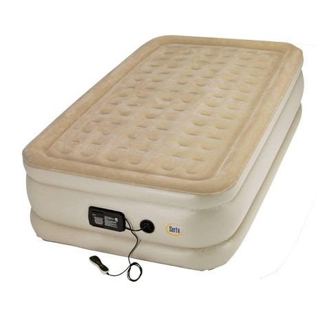 "Serta 20"" Raised Air Mattress with Deluxe Remote and Electric Pump - Twin - image 1 of 3"