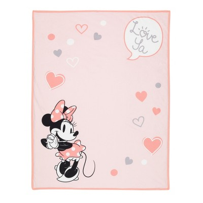 Lambs & Ivy Disney Baby MINNIE MOUSE Picture Perfect Pink Sherpa Baby Blanket