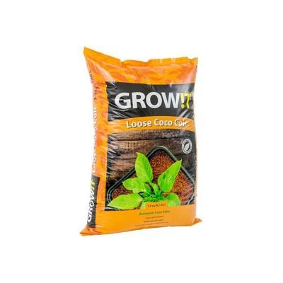 Hydrofarm GROW!T Coco Coconut Fiber Garden Soilless Growing Medium Soil Alternative, Conditioner, and Base, 1.5 Cubic Foot Spread, 24 Pound Bag