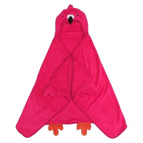 Flamingo Hooded Bath Towel Pink Pillowfort Target