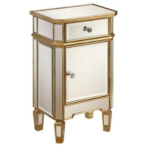 Storage Chest One-Door Mirrored - Christopher Knight Home - image 1 of 2