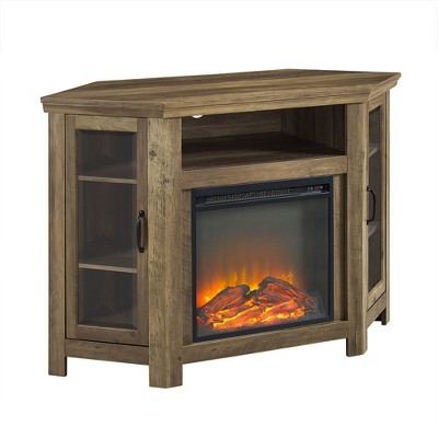 """Wood Corner Fireplace Console TV Stand for TVs up to 50"""" - Saracina Home"""