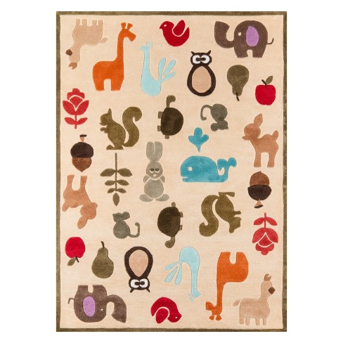 Lil Mo Whimsy Critters Animal Icon Tufted Accent Rug Momeni