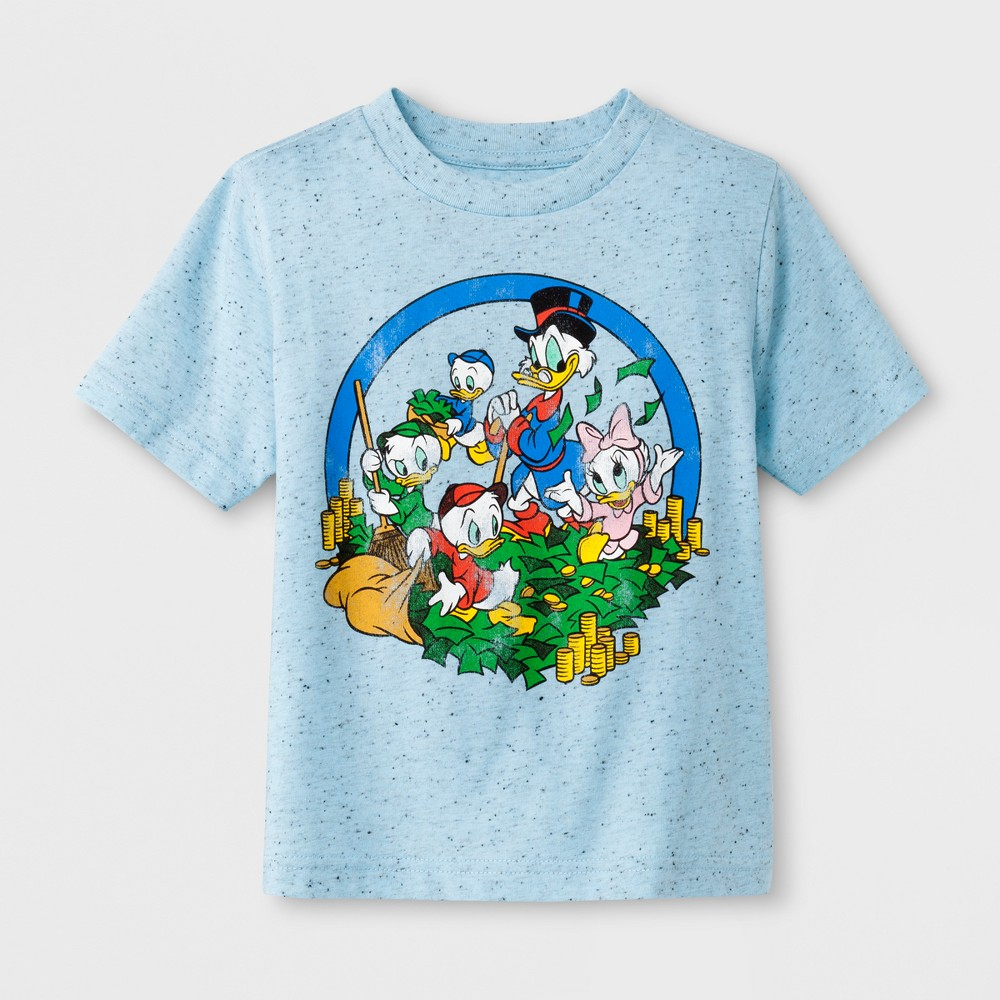 Toddler Boys' Disney DuckTales Short Sleeve T-Shirt - Light Blue 12M