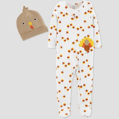 Babys' Thanksgiving Turkey Sleep 'N Play Set - Just One You® made by carter's Cream 3M
