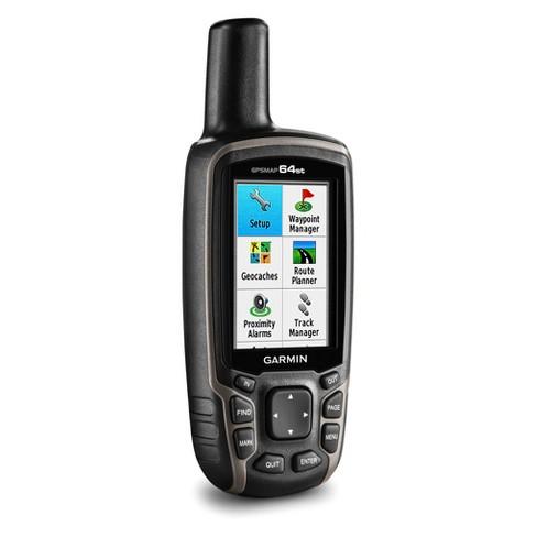Garmin GPSMAP 64st, US TOPO 100k Hiking GPS - Black (010-01199-20) - image 1 of 7
