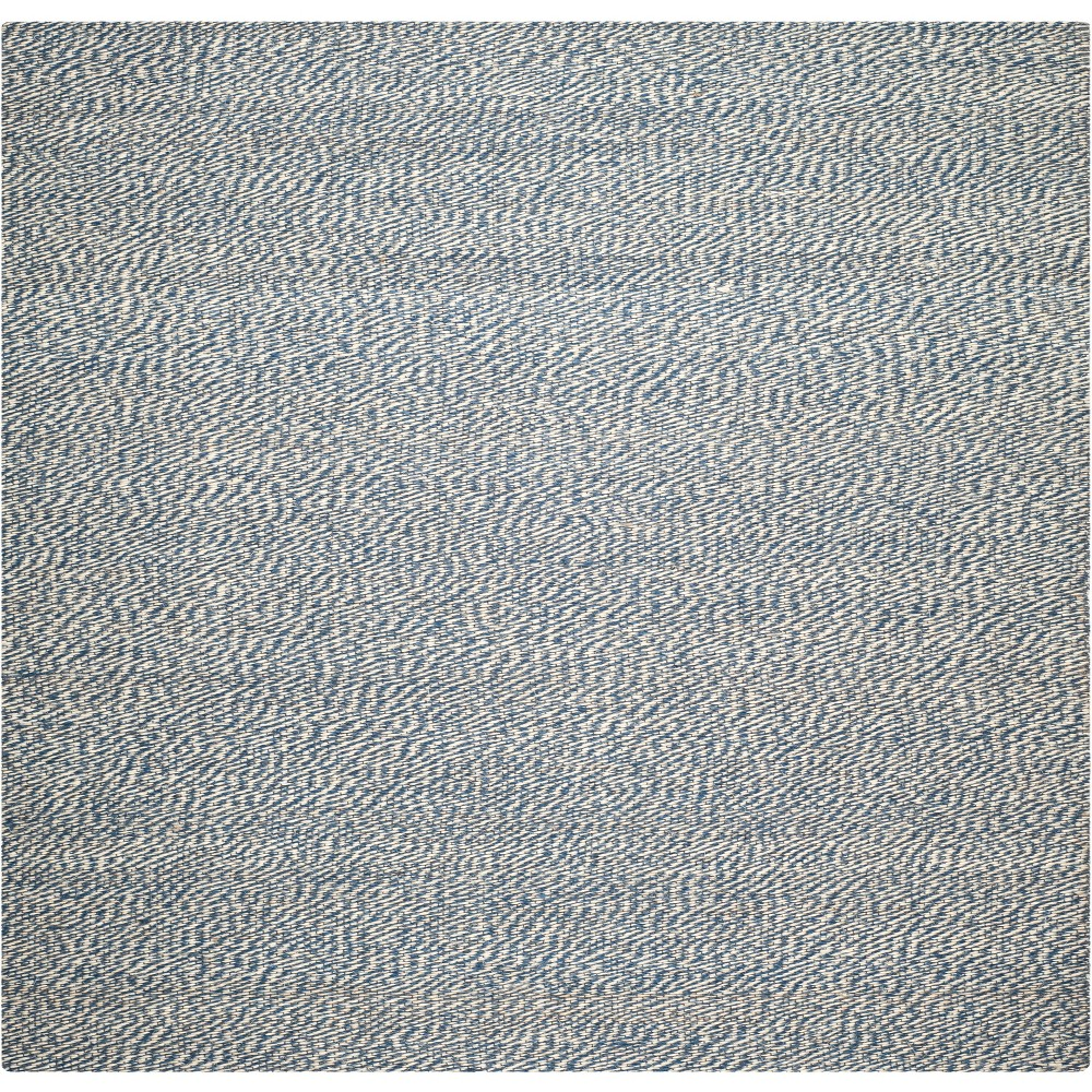 6'X6' Spacedye Design Woven Square Area Rug Blue/Ivory - Safavieh